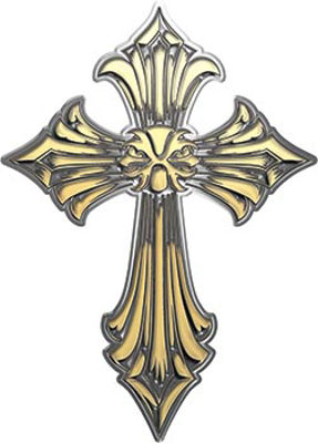 Old Style Cross in Gold