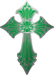 Old Style Cross in Green
