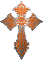 Old Style Cross in Orange