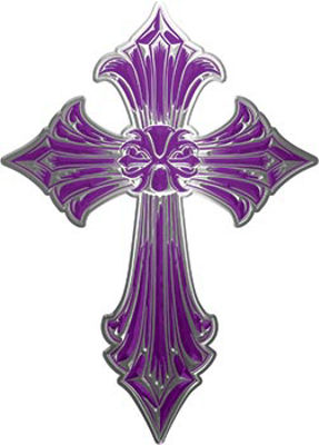 Old Style Cross in Purple