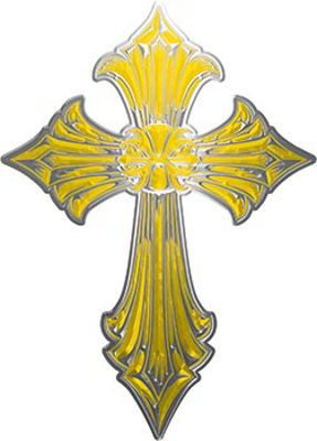 Old Style Cross in Yellow