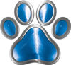 Dog Cat Animal Paw Sticker Decal in Blue