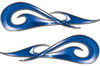 New School Tribal Car Truck ATV or Motorcycle Flame Stickers / Decal Kit in Blue