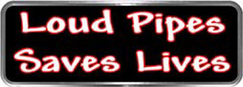 Crazy Biker Helmet, Bumper and Wall Decal / Sticker - Loud Pipes Saves Lives