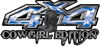 Cowgirl Edition with Boots 4x4 ATV Truck or SUV Vehicle Decal / Sticker Kit in Blue