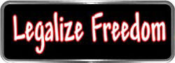 Crazy Biker Helmet, Bumper and Wall Decal / Sticker - Legalize Freedom