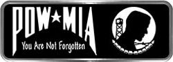 Crazy Biker Helmet, Bumper and Wall Decal / Sticker - POW MIA You are not forgotten