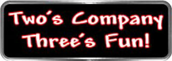 Crazy Biker Helmet, Bumper and Wall Decal / Sticker - Two's Company Three's Fun!