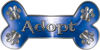 Dog Bone Animal Adoption with Paws Sticker Decal in Blue