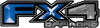 2015 Ford 4x4 Truck FX4 Off Road Style Decal Kit in Blue
