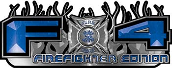 2015 Ford 4x4 Truck FX4 Firefighter Edition Style Decal Kit in Blue