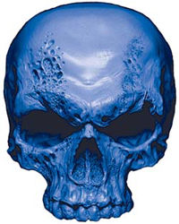 Skull Decal / Sticker in Blue