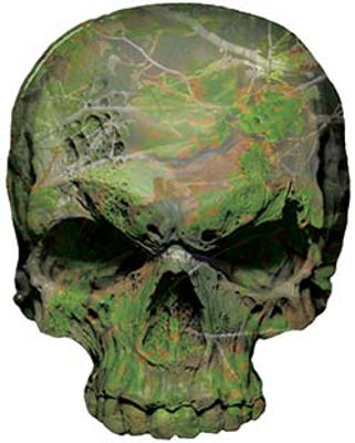 Skull Decal / Sticker in Camouflage