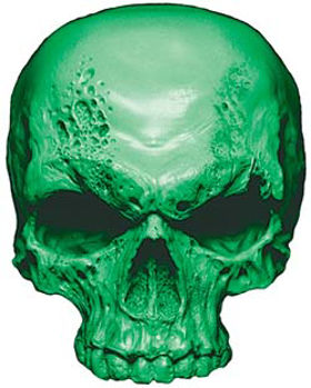 Skull Decal / Sticker in Green
