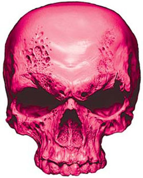 Skull Decal / Sticker in Pink