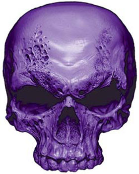 Skull Decal / Sticker in Purple