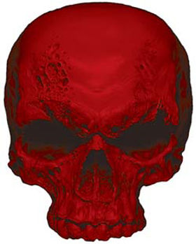 Skull Decal / Sticker in Red