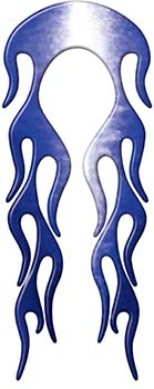 Motorcycle Fender, Car or Truck Flame Graphic in Blue