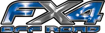 Ford F-150 4x4 Truck FX4 Off Road Style Decal Kit in Blue