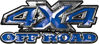 4x4 Truck Decals Offroad for Chevy Ford Dodge or Toyota in blue
