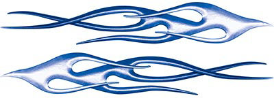Twisted Flame Decal Kit in Blue