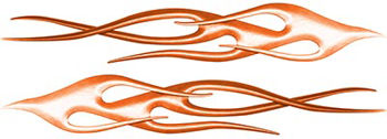 Twisted Flame Decal Kit in Orange