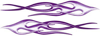 Twisted Flame Decal Kit in Purple