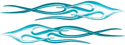 Twisted Flame Decal Kit in Teal