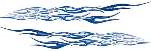 Car or Truck Flame Decal Kit in Blue