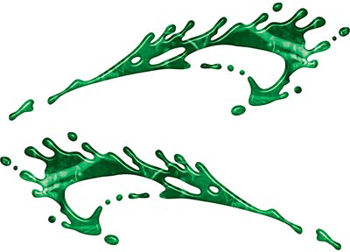Splashed Paint Graphic Decal Set in Green Camouflage