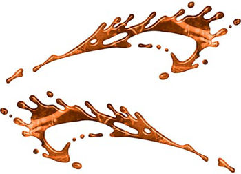 Splashed Paint Graphic Decal Set in Orange Camouflage