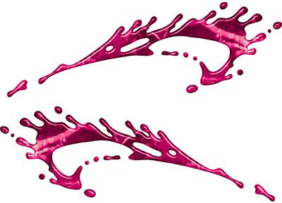 Splashed Paint Graphic Decal Set in Pink Camouflage