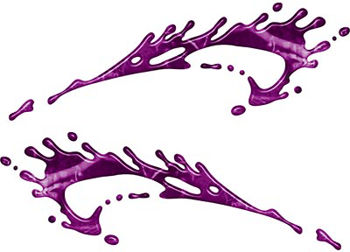 Splashed Paint Graphic Decal Set in Purple Camouflage