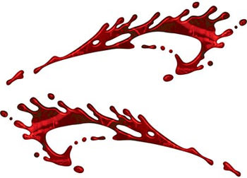 Splashed Paint Graphic Decal Set in Red Camouflage