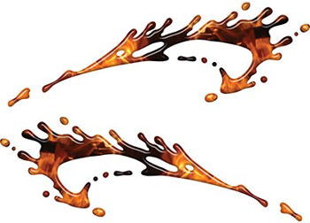Splashed Paint Graphic Decal Set in Inferno