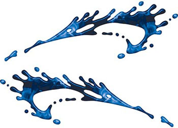 Splashed Paint Graphic Decal Set in Inferno Blue