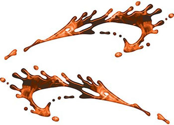 Splashed Paint Graphic Decal Set in Inferno Orange