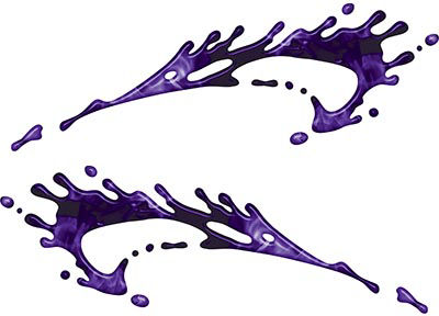 Splashed Paint Graphic Decal Set in Inferno Purple