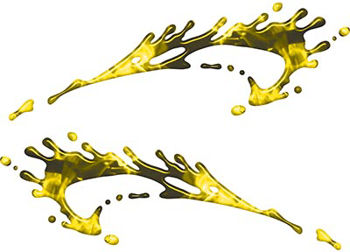 Splashed Paint Graphic Decal Set in Inferno Yellow