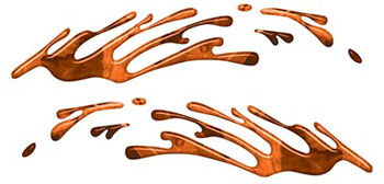 Wave Spash Paint Graphic Decal Set in Orange Camouflage