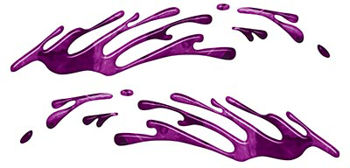 Wave Spash Paint Graphic Decal Set in Purple Camouflage