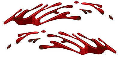 Wave Spash Paint Graphic Decal Set in Red Camouflage