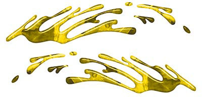 Wave Spash Paint Graphic Decal Set in Yellow Camouflage