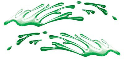 Wave Spash Paint Graphic Decal Set in Green
