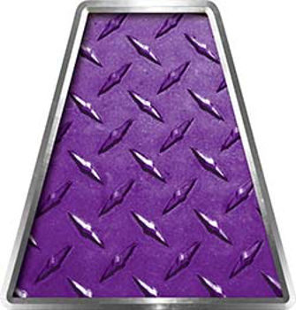 Fire Fighter, EMS, Rescue Helmet Tetrahedron Decal Reflective in Purple Diamond Plate