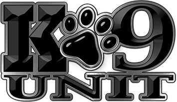 K-9 Unit Law Enforcement Police Dog Paw Decal in Black