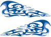 Tribal Style Flame Decals in Blue