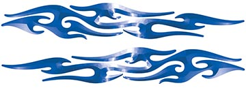 Tribal Style Flame Graphics in Blue
