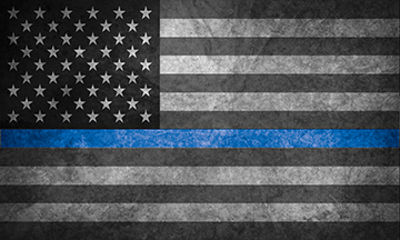 Thin Blue Line Police Sheriff Law Enforcement with American Flag Decal