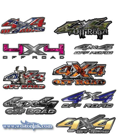 4x4 off road decals